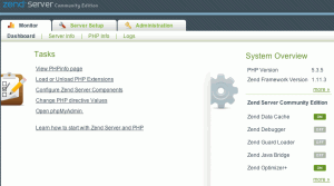 Zend Server CE Web-Interface