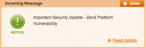 Important Security Update - Zend Framework Vulnerability